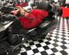 Sheepskin Seat Cover (Full Seat Cover) (2015 - Present F3/F3-S/F3-T/F3-LTD) (MM-4404-F3) Shown on 2016 Can Am F3-LTD (RED with BLACK tips)