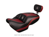 Ultimate Seat, Can Am Spyder F3 (2015 - Present) Spyder F3 Seat - Dark Red Ostrich Inlays and Logos