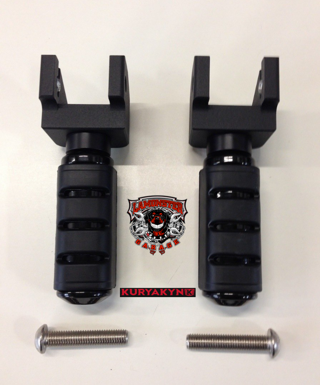 Can Am Spyder F3 Peg Adapters-Trident Large BLK (LG-1026-7566) by Lamonster Included in kit