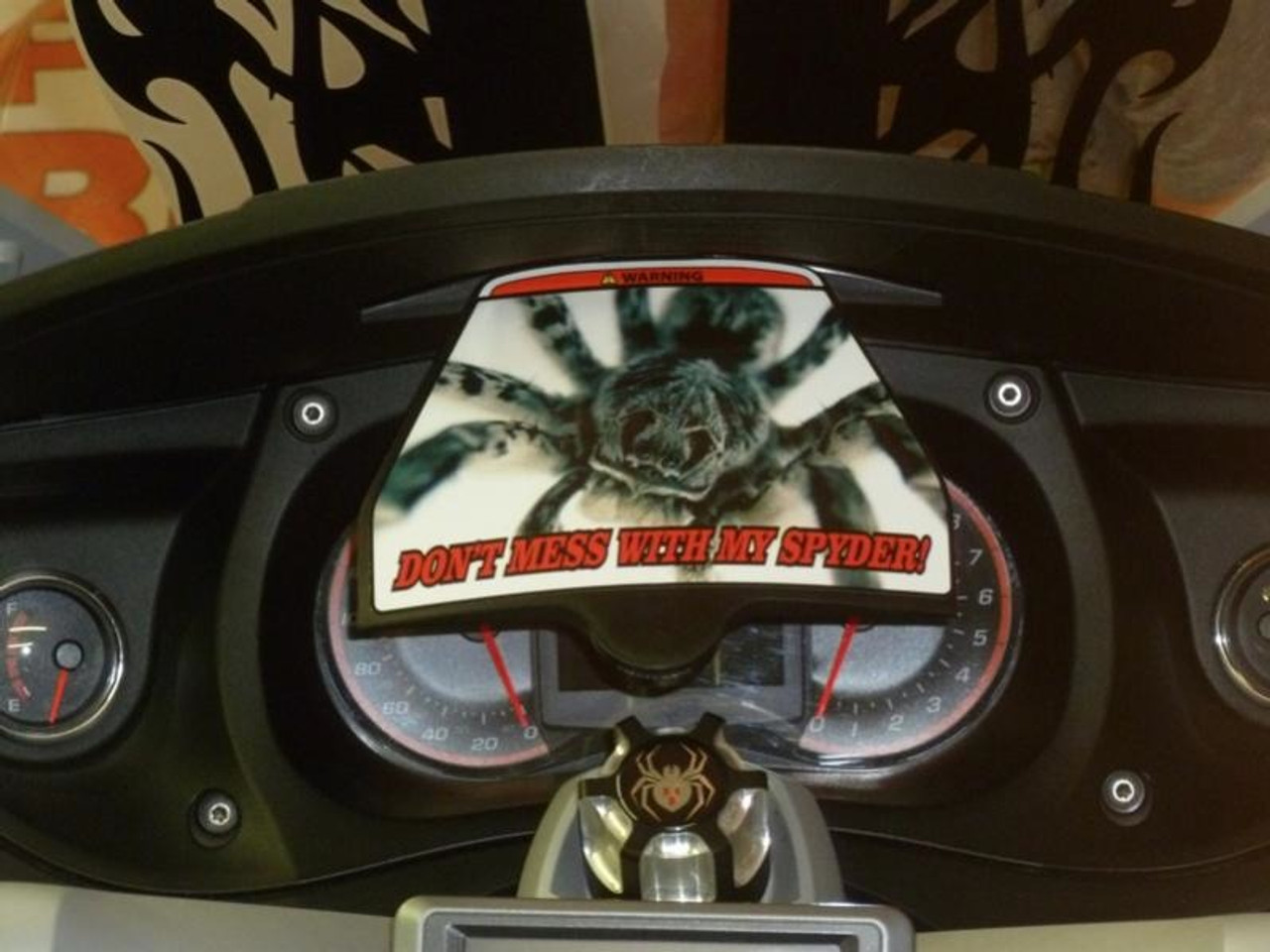 """DMWMS Decal (LG-2004) by Lamonster """"Don't Mess With My Spyder"""""""