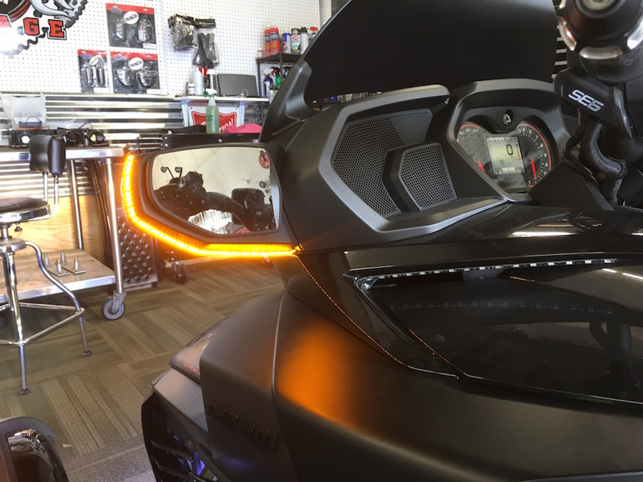 Can-Am Spyder F3T Longhorn Mirror Light Kit (LG-3016) (Bright Ryder by lamonster)