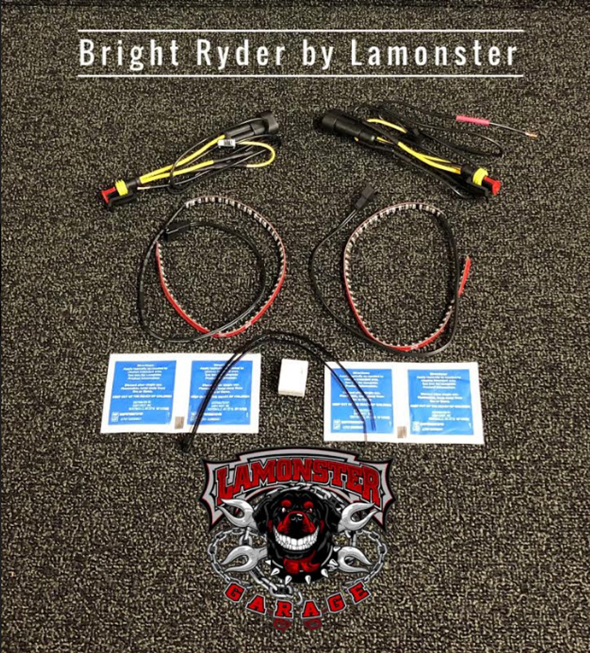 "Can-Am Spyder F3T Longhorn Mirror Light Kit (LG-3016) (Bright Ryder by lamonster) ""Included in kit"""
