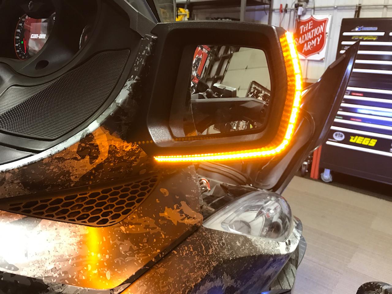 Can-Am Spyder RT Longhorn Mirror Light Kit