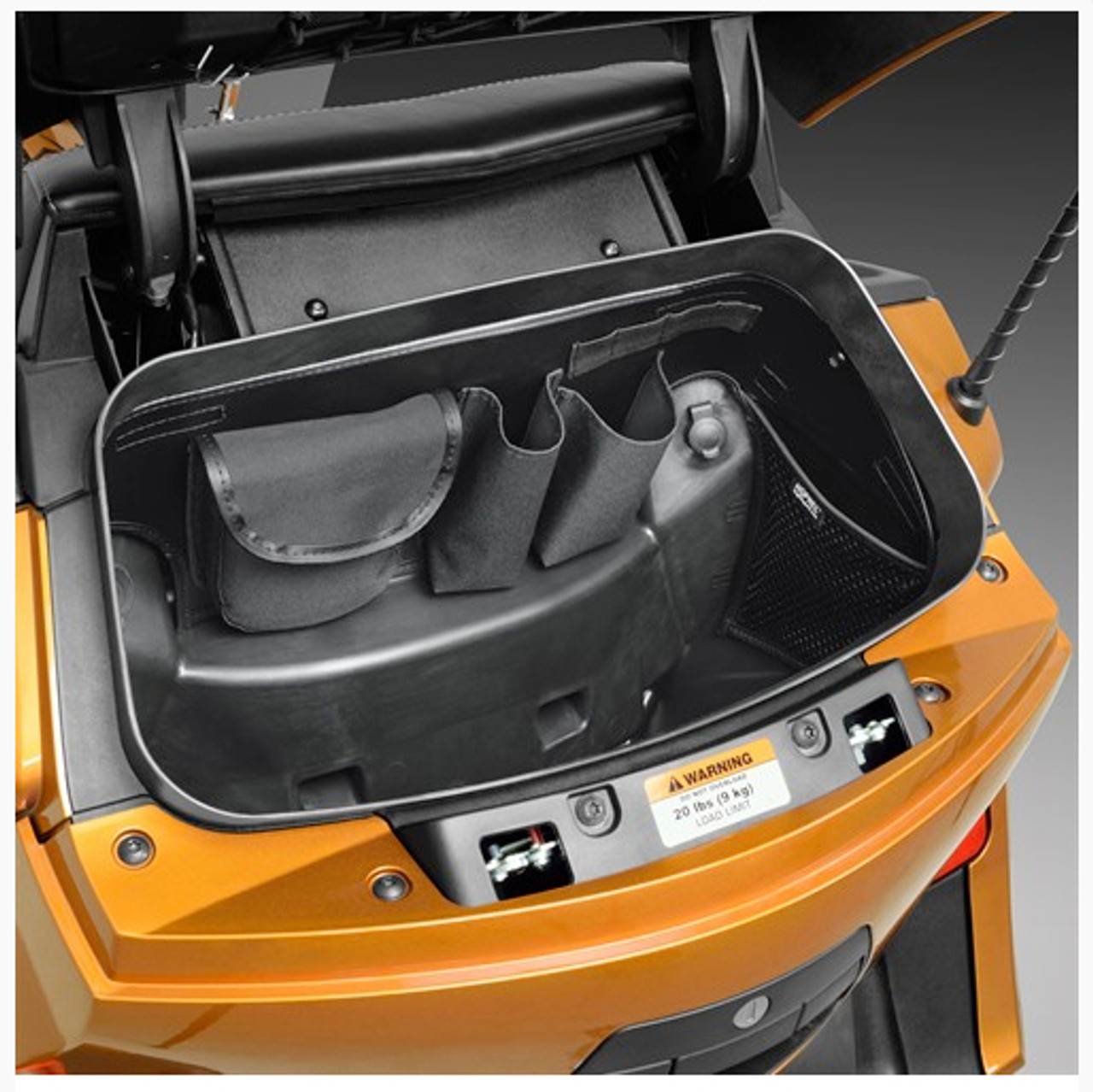 Hopnel, TRUNK ORGANIZER CAN-AM Spyder RT, F3-T (SC-H41-150BK) Lamonster Approved Shown In Can Am Spyder RT Trunk
