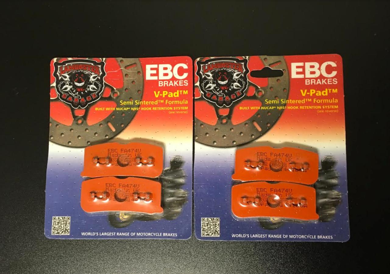High Performance EBC Semi-Sintered Front Brake Pads (All Spyder Models 2008-2012) (LGA-FA474V) Lamonster Approved
