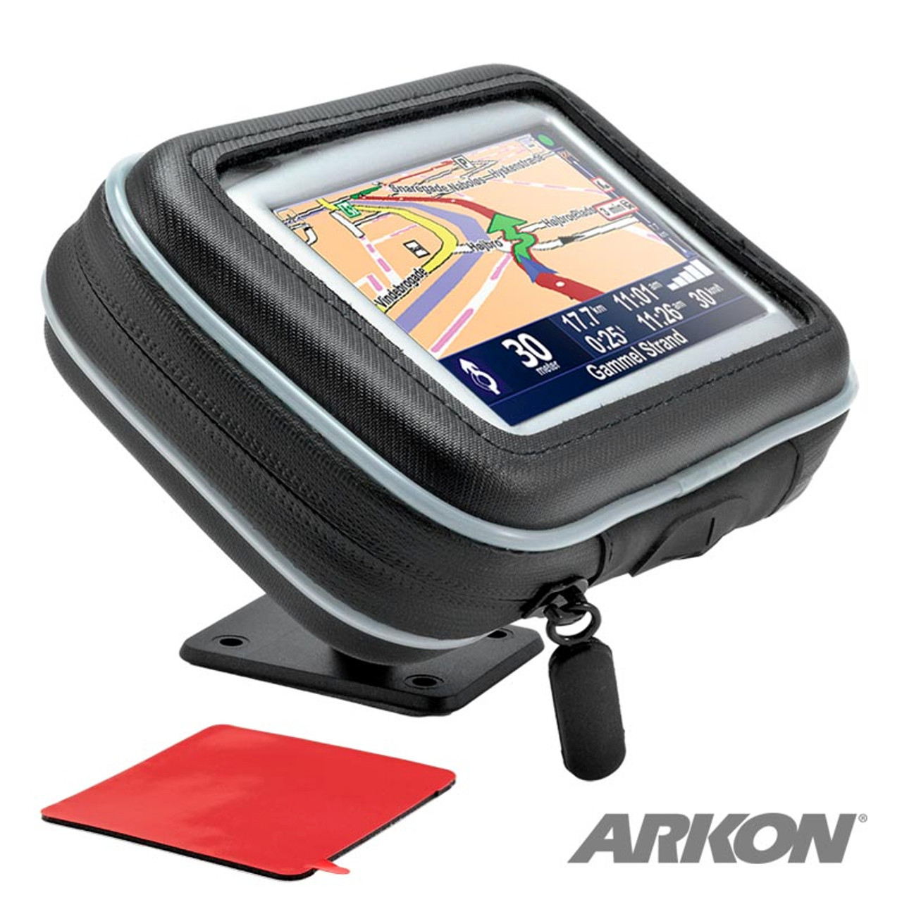 """Motorcycle Mount with Water-Resistant Holder for 4.3"""" GPS"""