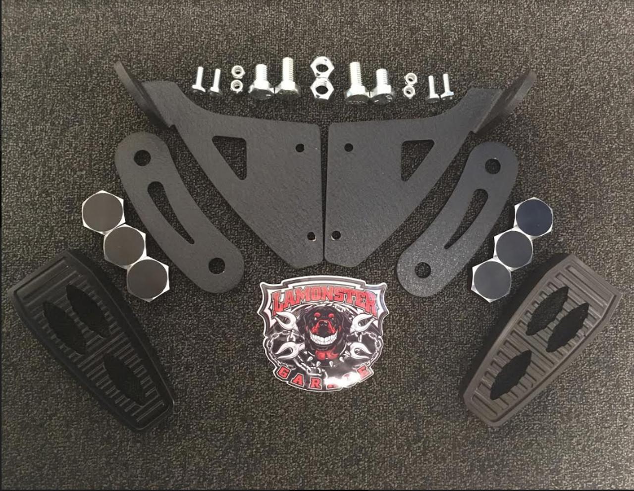 Can-Am Spyder RT FBB Highway Brackets- LARGE BLACK GRIPPER PEG (LG-1012-1041B)