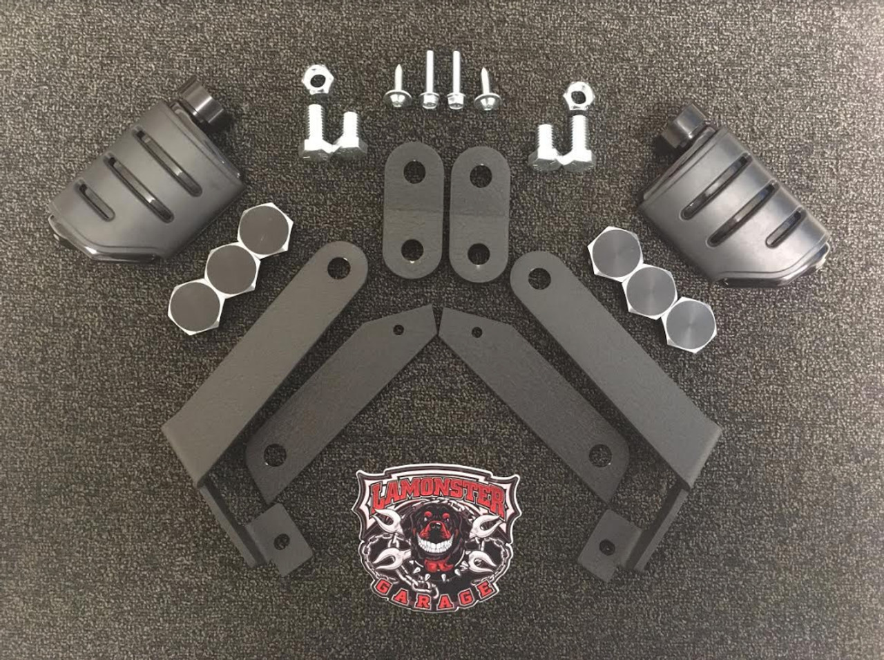 Can Am Spyder RT NBV Highway Brackets (LG-1002-7567) Kuryakyn Dually ISO Pegs. by Lamonster