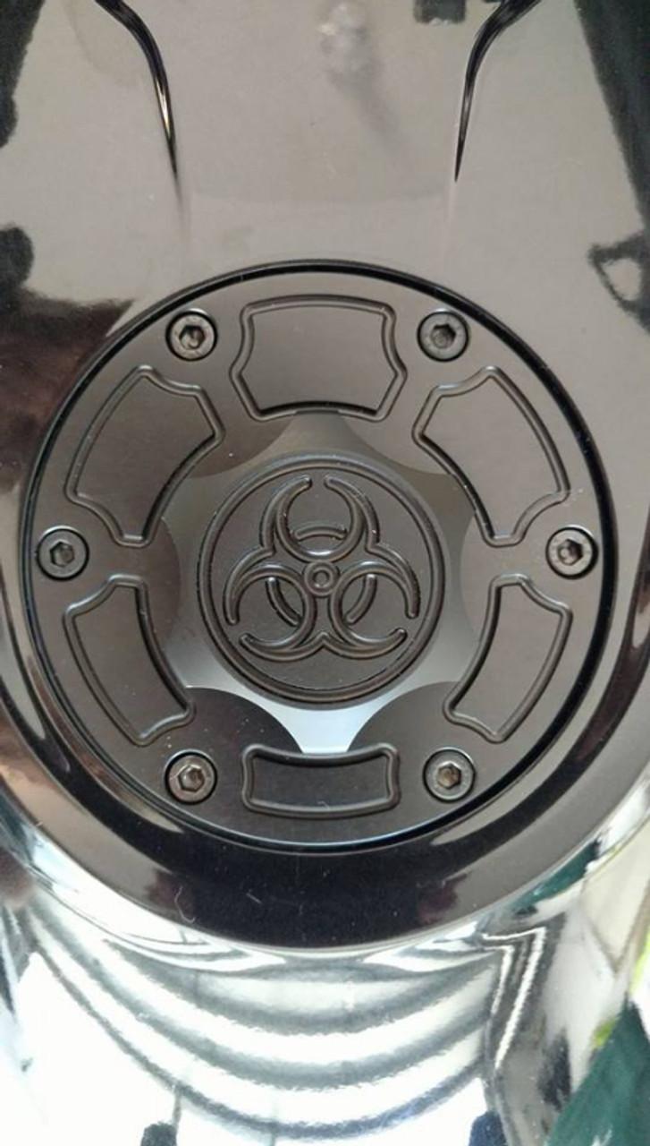 Lamonster IPS F3 Keyless Fuel Cap Assembly (LG-1095B) Fits all Can-Am Spyder F3 Models. F3, F3-S, F3-T, F3-LTD Finish: Black Photo by: Harold Luttrell
