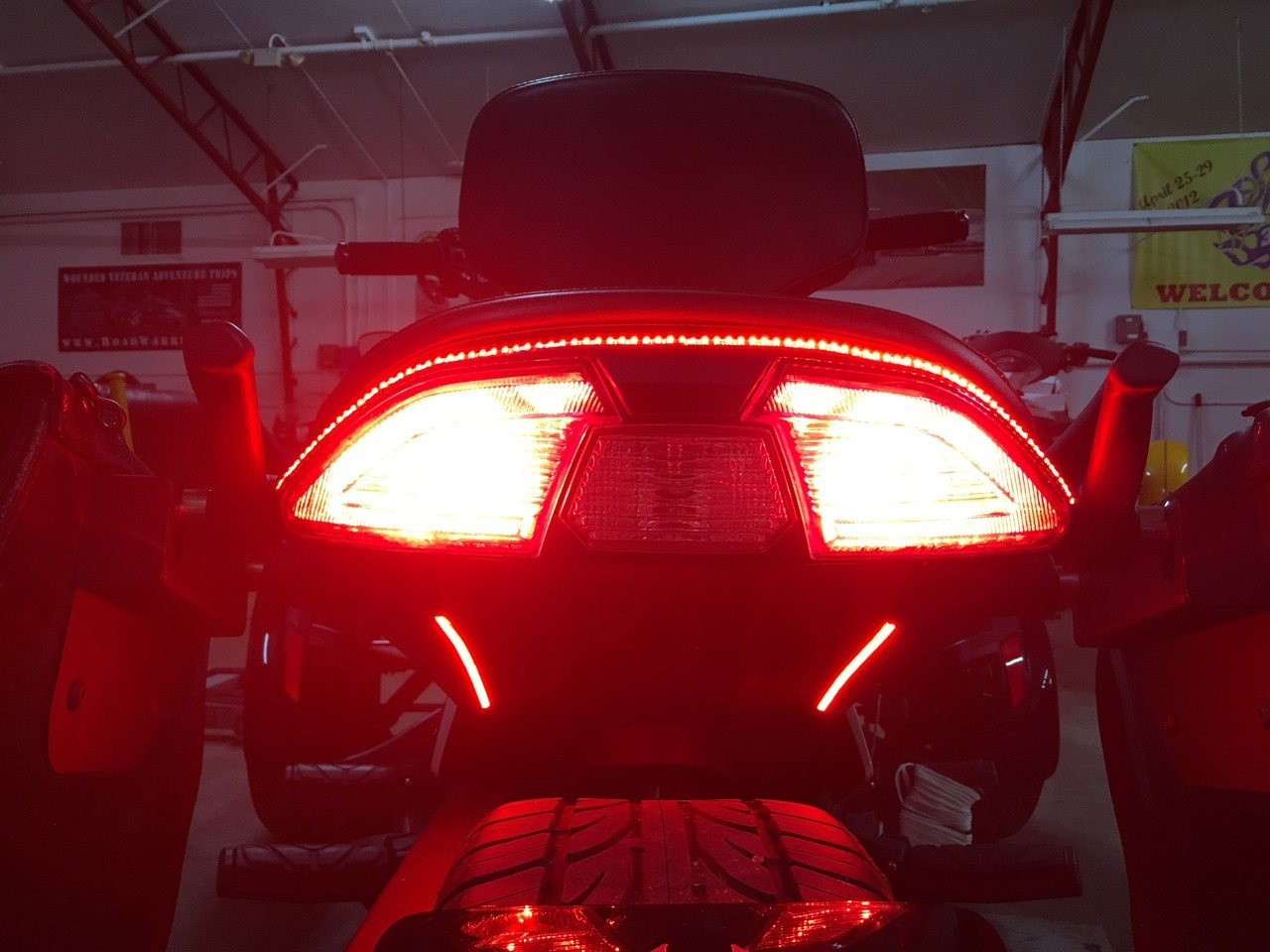 Can-Am Spyder F3 & F3S Rear BRT Lighting Kit - BRAKE/RUN/TURN, Includes STROBE Feature. (SPY-182) Lamonster Approved