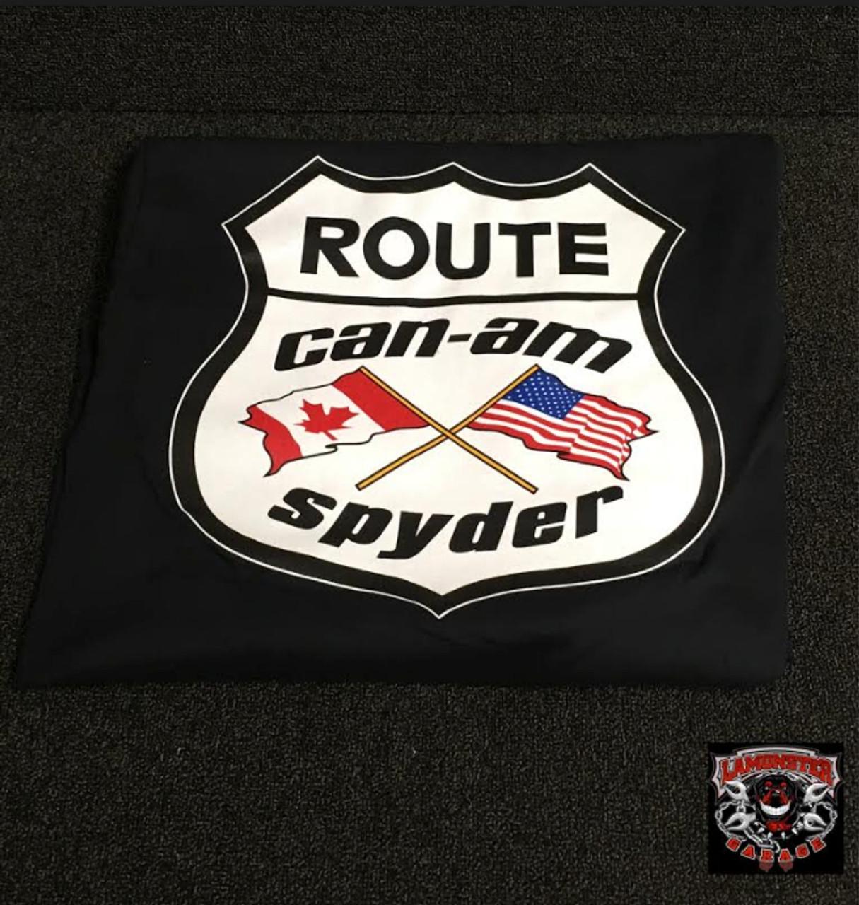 Can Am Flag T-Shirt (Black Long Sleeve) (LG-7001) Lamonster Garage