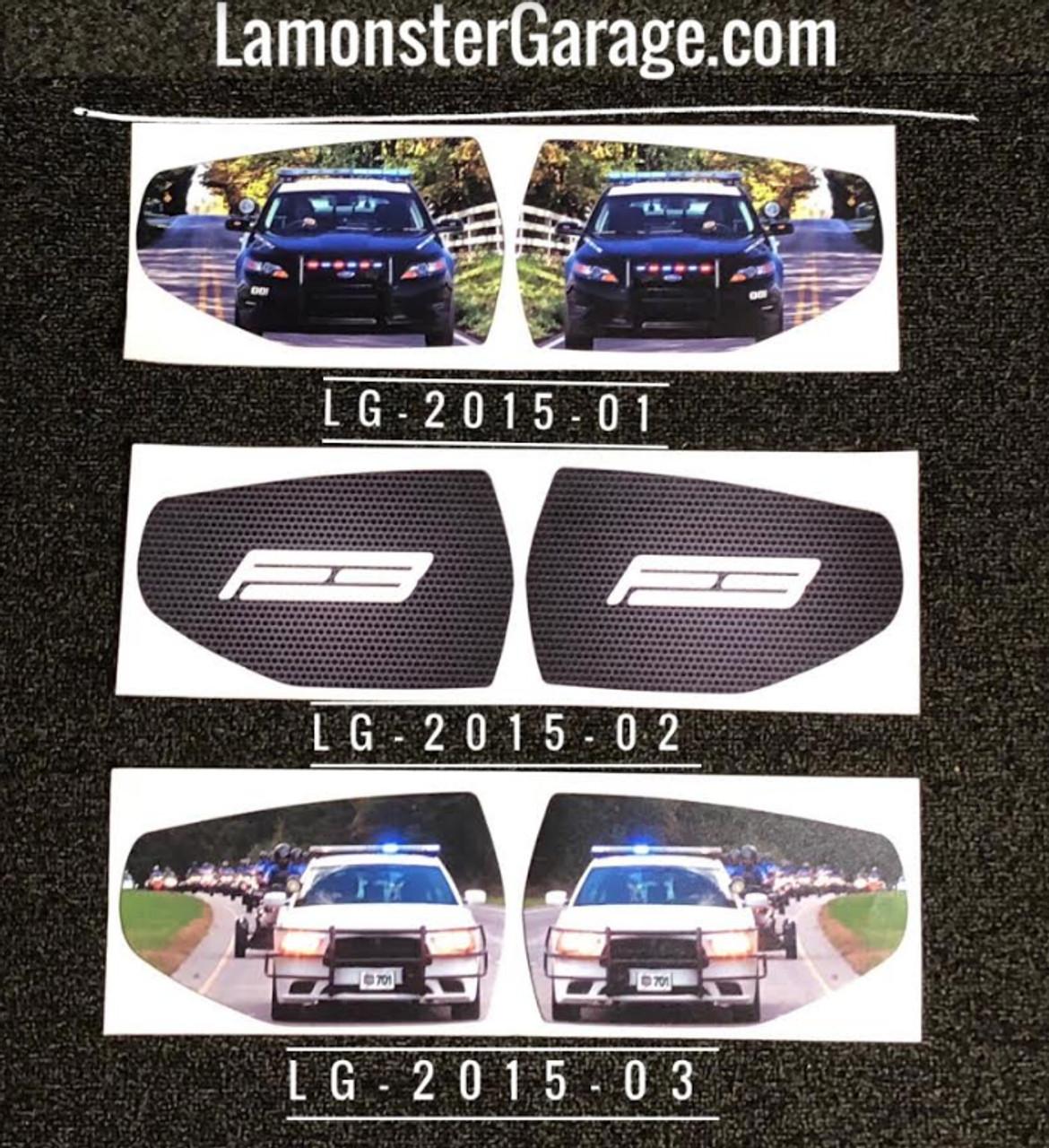 F3-T / F3-LTD Mirror Inserts. (LG-2015-01)(LG-2015-02(LG-2015-03)