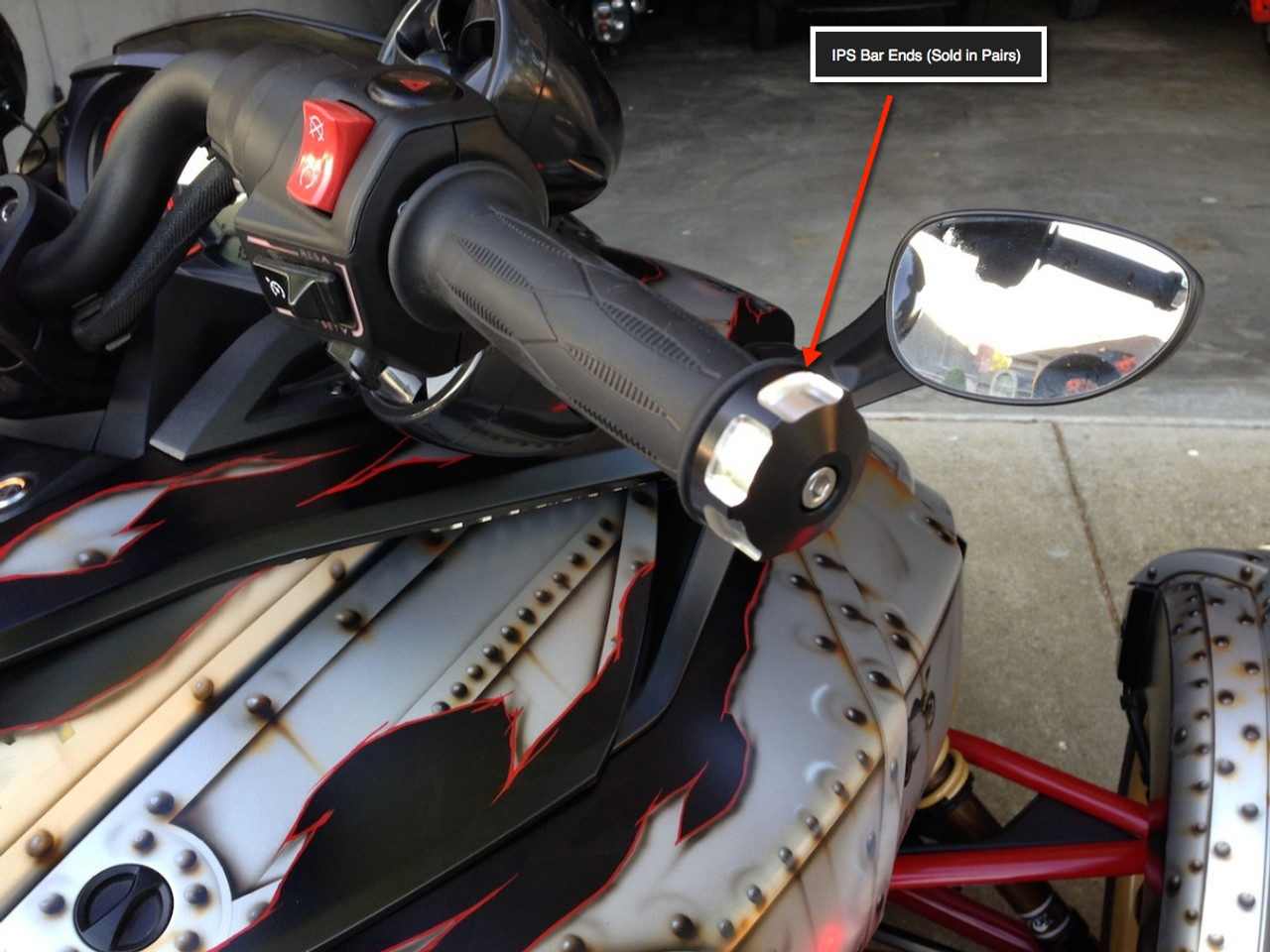 Can Am Spyder IPS Bar End Caps (LG-1015) by Lamonster
