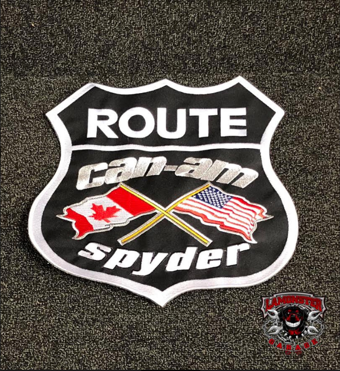 "Can-Am Spyder Flag Patch (11""X11"" Black) (LG-7006) by Lamonster"