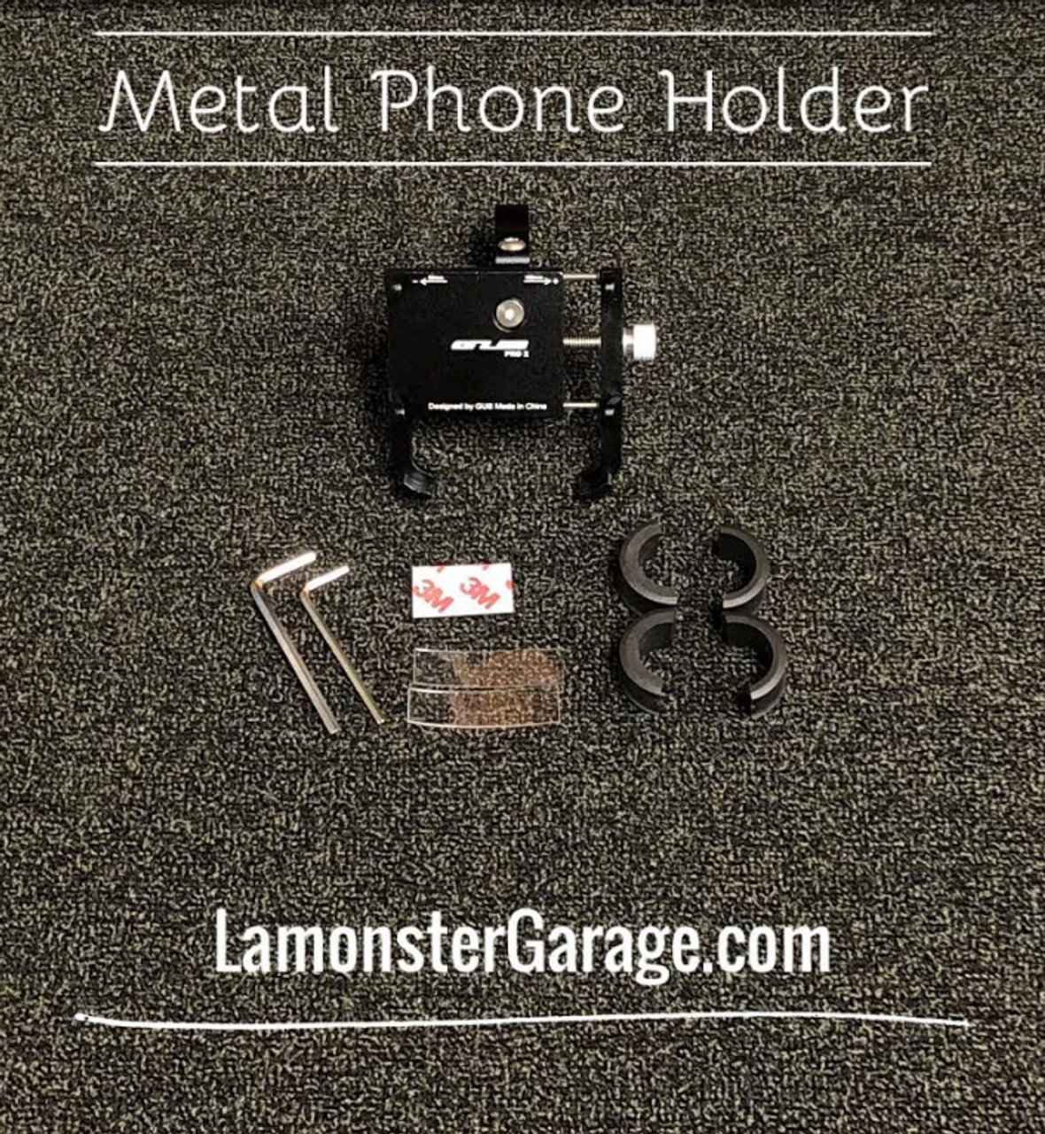 """Lamonster Approved Phone Holder (LGA-4015) Fits ALL Can-Am Spyder F3 Handle Bars. Fits ALL Motorcycle Handle Bars that are (7/8"""", 1"""", 1 1/8"""")"""