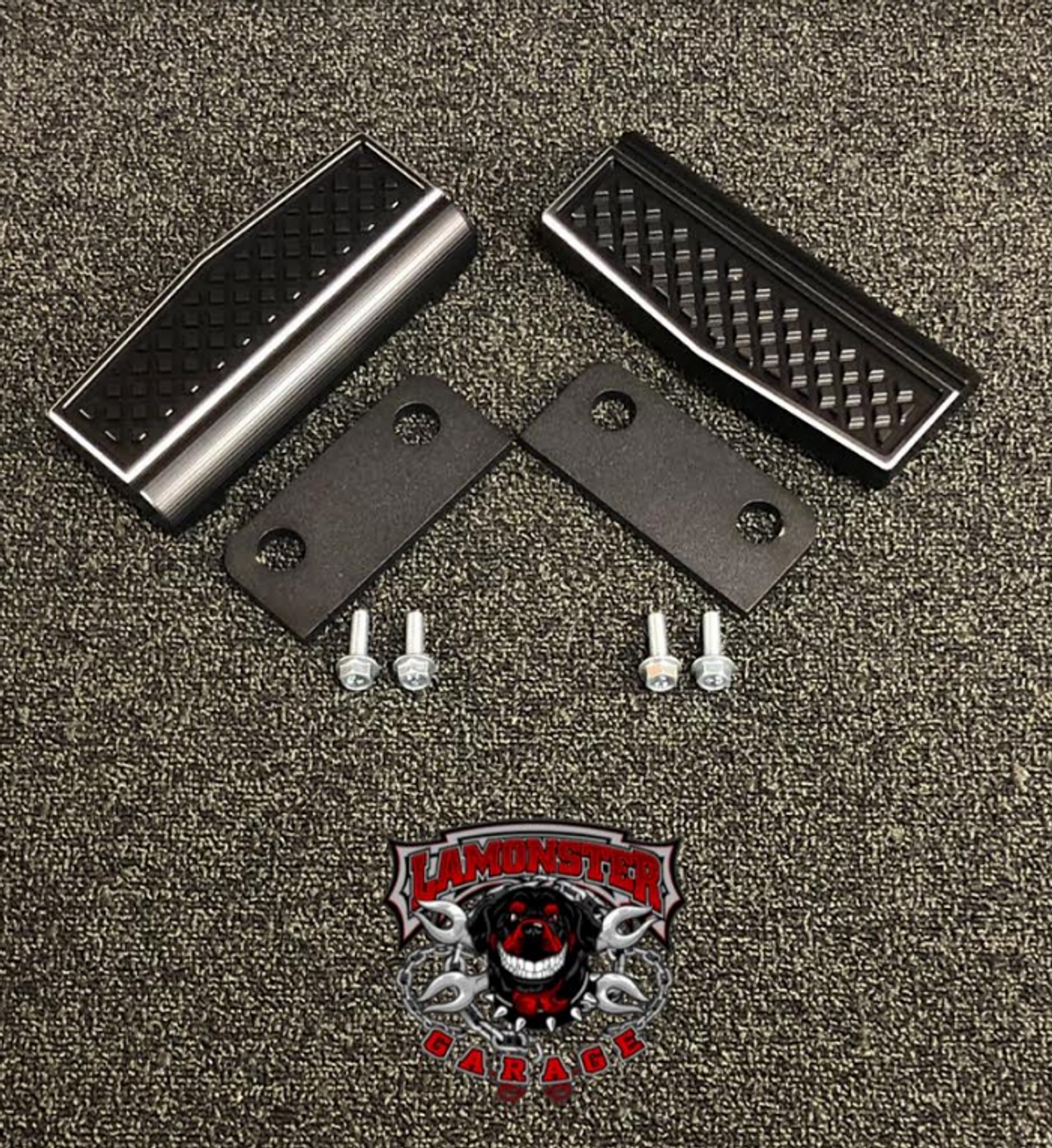 F3 Black Dymond Peg Insert (LG-1044A) Works with all F3 models with OEM pegs (rider & passenger) by Lamonster Accent Cut Finish