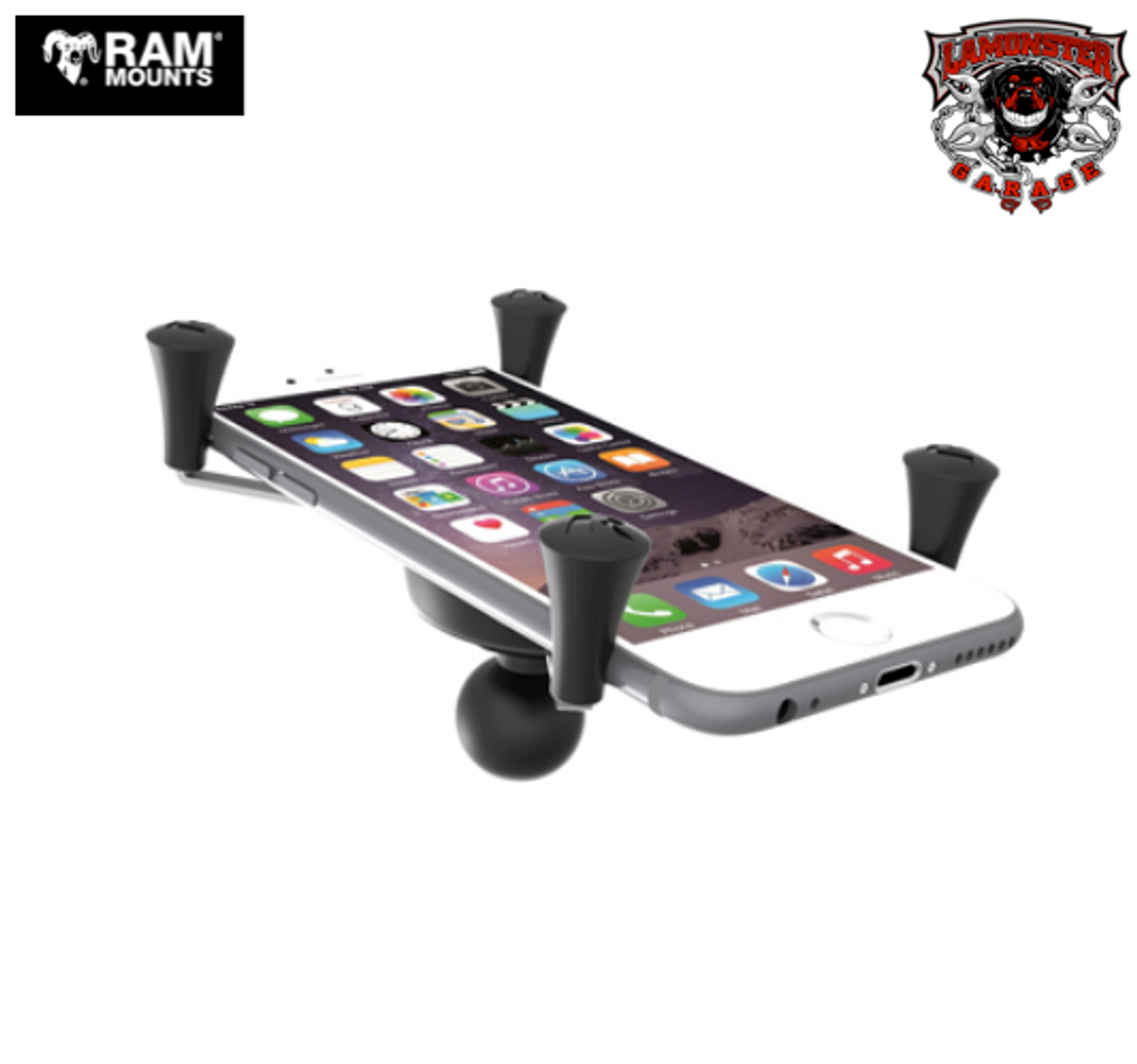 """RAM® Universal X-Grip® Large Phone/Phablet Cradle with 1"""" Ball (RAM-UN10B) Lamonster Approved"""