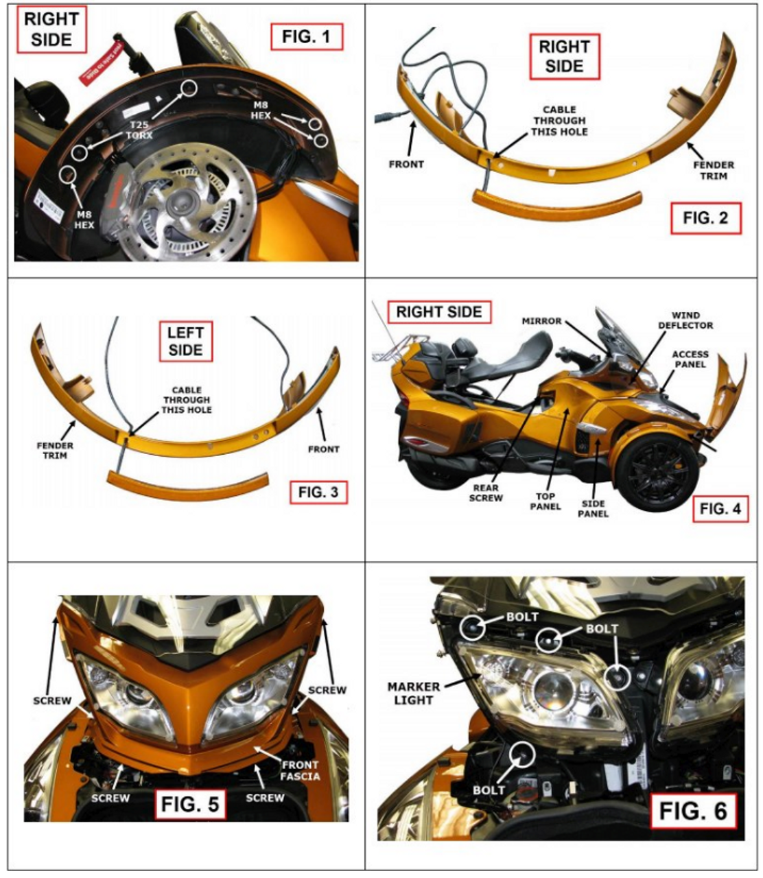 Show Chrome® Front Fender LED Reflectors Next Gen. (RT Complete Kit) (SC-RT-173A-174A) Lamonster Approved Install Images