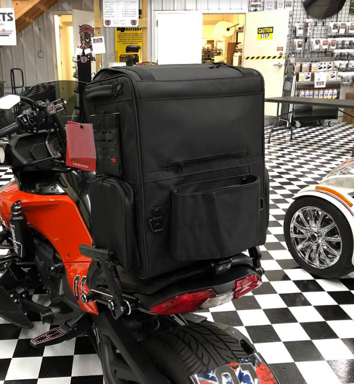 XKursion® XS Depot Bag (KYN-5252) Lamonster Approved Shown on a Can-Am Spyder F3-S