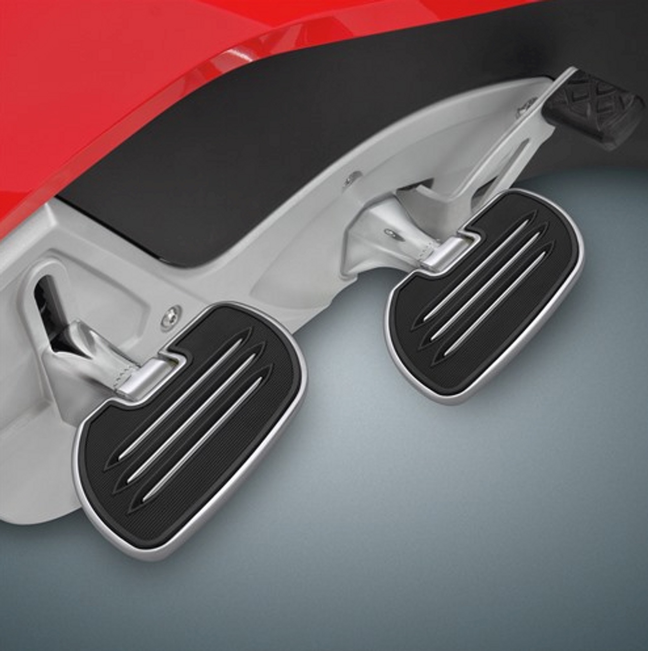 COMMANDER DRIVER FLOORBOARDS for the CAN AM SPYDER RT (SC-41-186) (Commander Driver Board Shown With 41-185 Passenger Board On Spyder RT) (SOLD SEPARATELY)