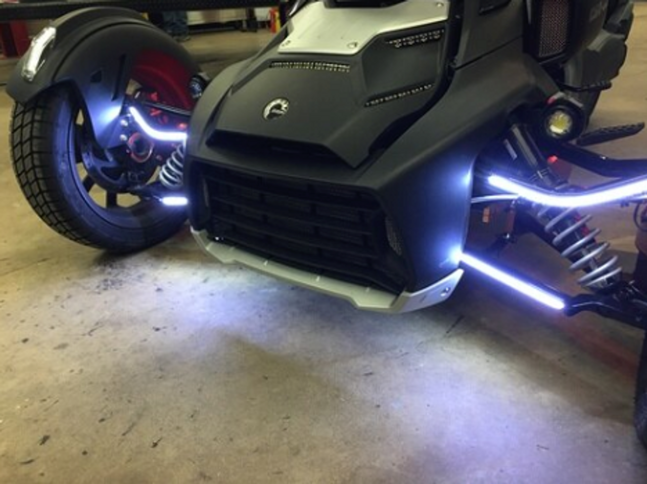 RYKER DOUBLE VISION A-ARM BRIGHT WHITE LED DAYTIME RUNNING LIGHTS FOR BOTH UPPER & LOWER A-ARMS. (SPY-391)