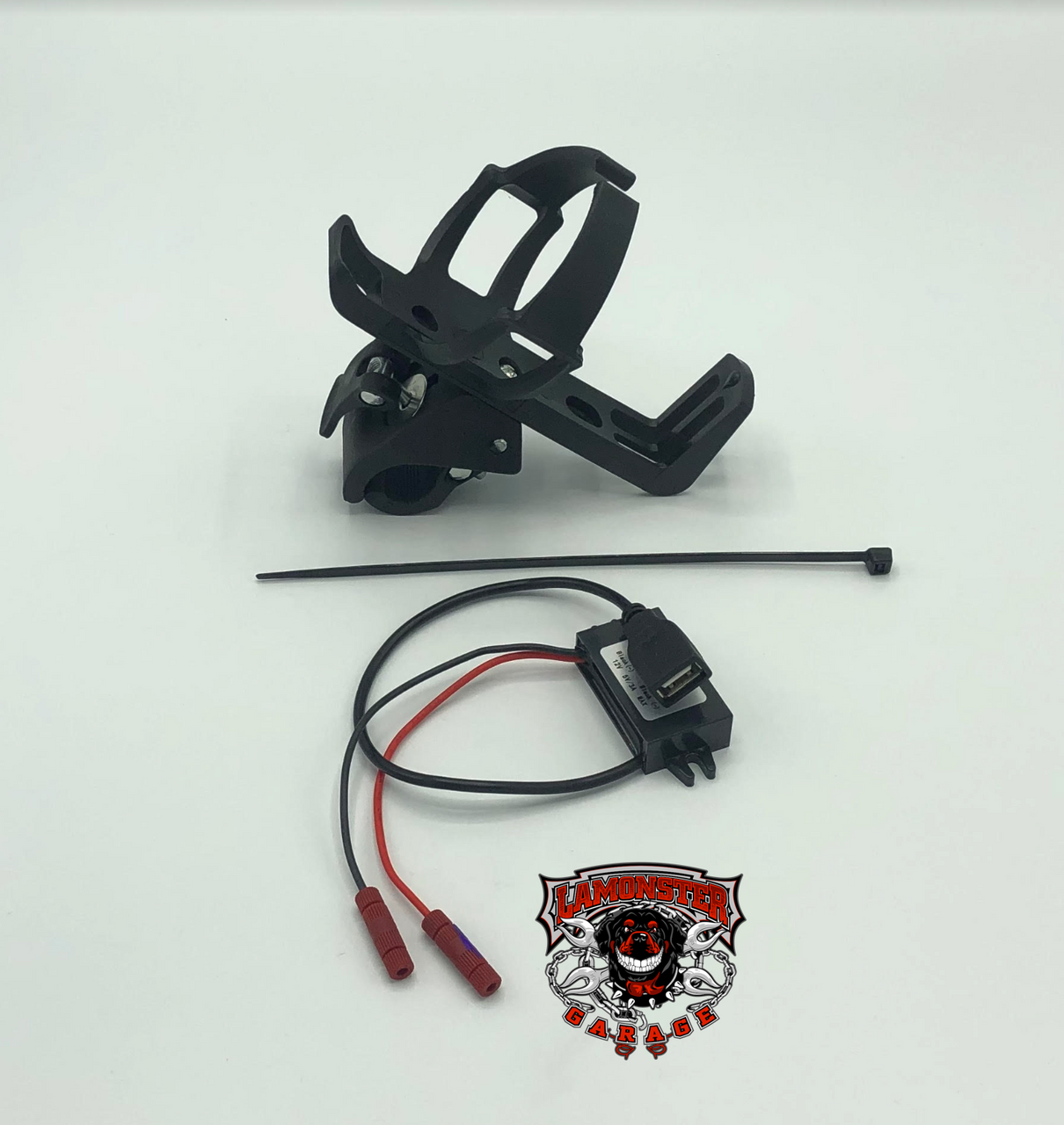 Passenger drink holder with USB power supply for the Can Am Spyder F3 Models (LG-2001-3092).