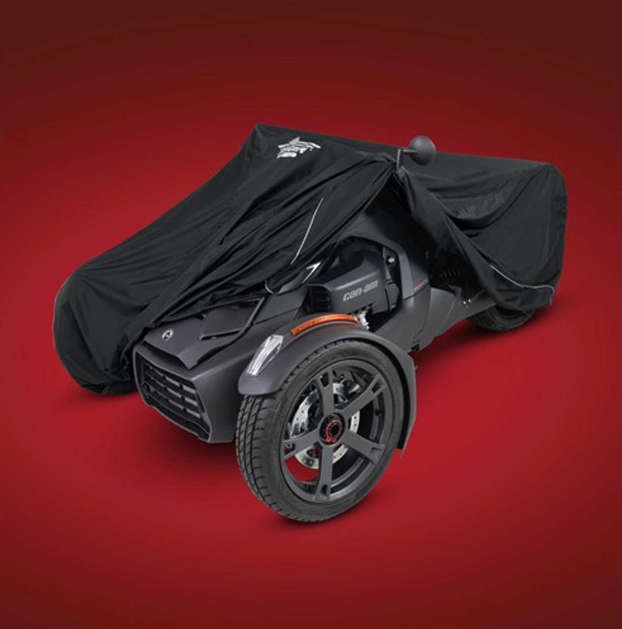 UltraGard® CAN-AM RYKER COVER (BLACK) (SC-474BK) Black Cover On Can-Am Ryker (pulled back)