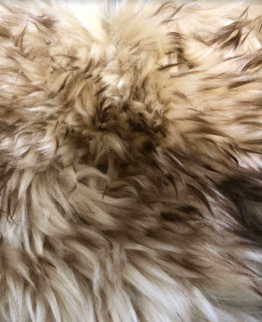 Sheepskin Seat Cover (Full Seat Cover) (MM-4400-HON-BN)  (HONEY with BROWN tips)