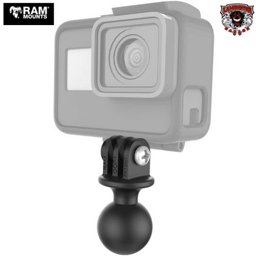 """RAM® Custom GoPro Hero Adapter 1"""" Ball (RAM-219142) Lamonster  Approved"""