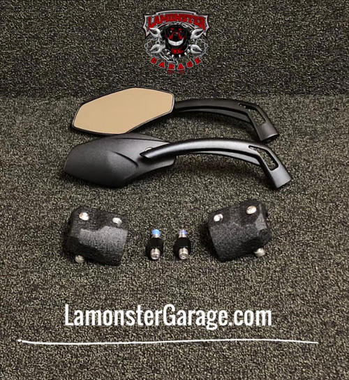 Can-Am Spyder F3 Top Cap and Mirror Combo SM6 (LG-1028-1027-0311) by Lamonster These Top Caps will fit all SM6 F3 models.
