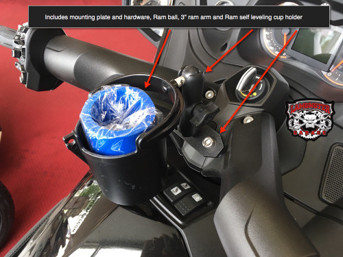 Lamonster Ram mount for RT with Self-Leveling Cup Holder
