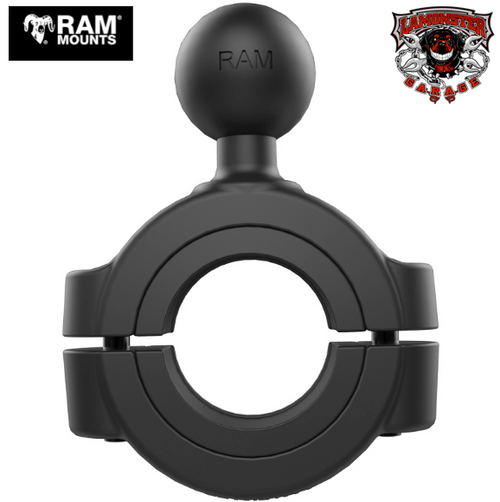 "RAM® 1 1/8"" - 1 1/2"" Diameter Handlebar/Rail Base with 1"" Ball (RAM-11215U) Accommodates Handlebars 1 1/8"" to 1 1/2"" in diameter Fits All F3 Handlebars"
