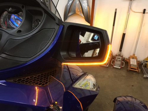 Can-Am Spyder RT - Full View Turn Signals for both Mirrors, Recommended for 2014 - 2019. (SPY-202)
