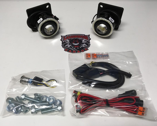 LAMONSTER F3 LED FOG LIGHT AND FOG RING COMBO