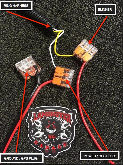 LAMONSTER F3 LED FOG LIGHT AND FOG RING COMBO (LG-3001) (Bright Ryder by Lamonster)