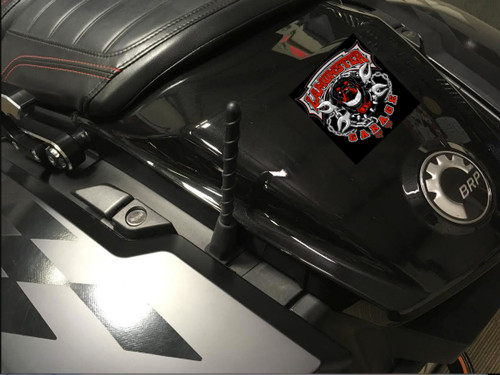 Show Chrome Short Spiral Antenna (SC-41-180) Lamonster Approved Shown on Can Am Spyder F3-T