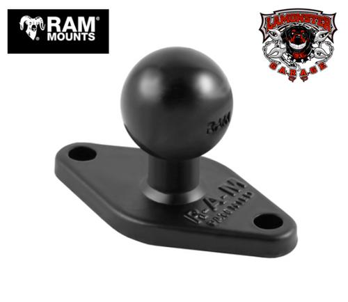 "RAM® Diamond Plate 2.43"" x 1.31"" with 1"" Ball (RAM-238U) Lamonster Approved"