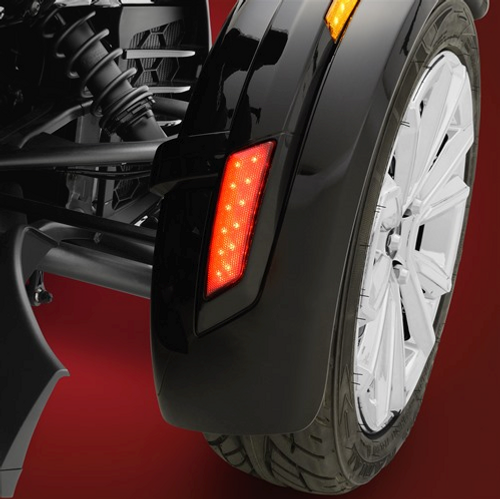 Show Chrome® Front Fender LED Reflectors Next Gen. (Rear of Front Fender)(with Lamonster RT plug & play kit)