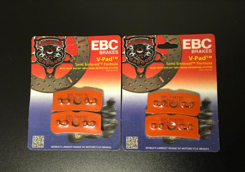 High Performance EBC Semi-Sintered Front Brake Pads (All Spyder Models 2008-2012) (LGA-FA474V) Lamonster Approved