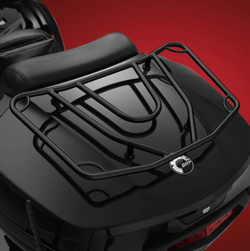 Show Chrome® Tour Trunk Rack for the Can-Am Spyder F3-T, F3-LTD and the Yamaha Star Venture (Black) (SC-41-355BK) Lamonster Approved