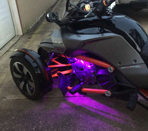 Can-Am Spyder F3 Engine RGB LED Light Kit (TWICE AS MANY LEDS) (SPY-179) Lamonster Approved