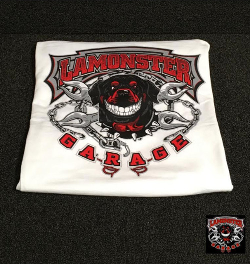Lamonster Garage T-Shirt (White Long Sleeve) (LG-0025)