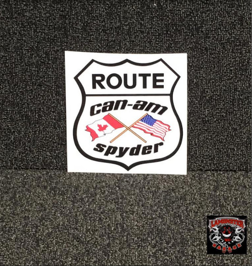 Can-Am Flag Decal (LG-2014) Lamonster Garage