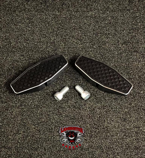 Black Dymond Centerline Pegs (Accent Cut) (LG-1076) by Lamonster Can-Am Spyder Motorcycle.   #Lamonster #BlackDymond #LamonsterGarage