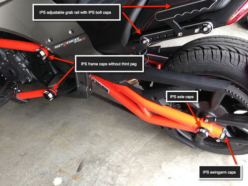 Can Am Spyder IPS rear axle caps