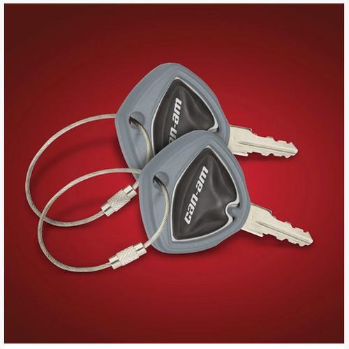 Big Bike Parts® Grey Spyder Key Cover (Pair) (SC-41-182E) Lamonster Approved Fits ALL Can-Am Spyder Keys