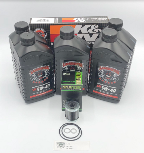 Can Am Spyder 998 Oil Change Kit with K&N Air Filter (LG-6002-9910) by Lamonster Compatible: CAN AM SPYDER, GS,RS,RSS,ST,ST-S,ST-LTD 2008-2016. RT,RT-S,RT-LTD 2010-2013.