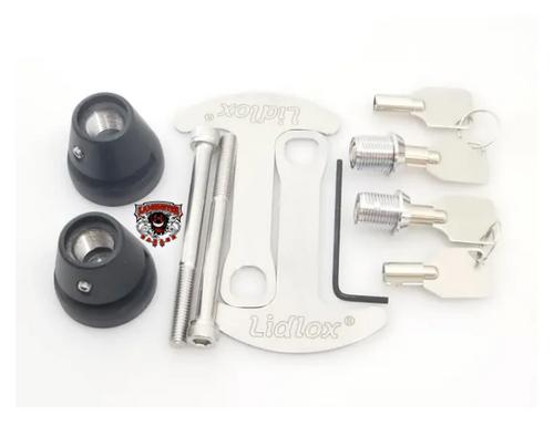 Lidlox Helmet Lock, Can Am Ryker, Black Pair (LL-6270)
