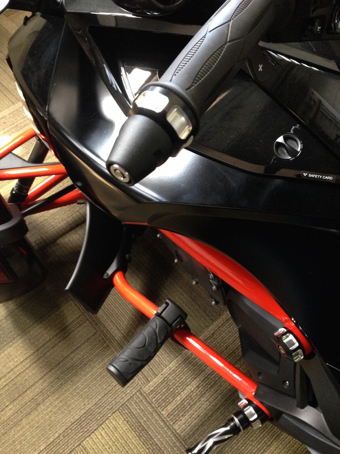Can Am Spyder IPS Lidlox combo - blk pair (LG-1015-12-B) Lidlox with IPS Bar End Cap