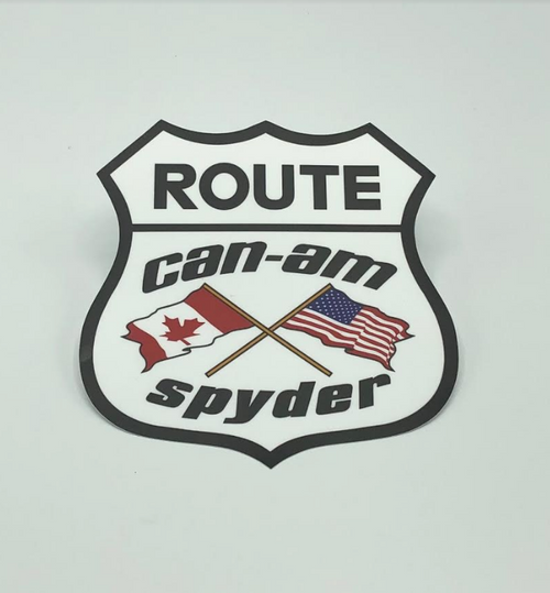 Can-Am Flag Decal 7X7